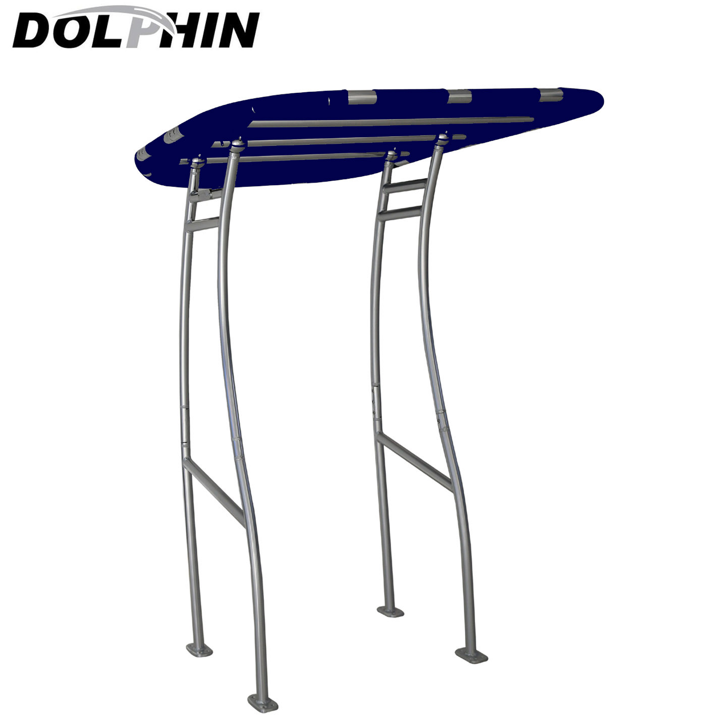 Dolphin Pro Plus T Top for small to medium size boat-navy blue&quick release knobs+antenna bracket