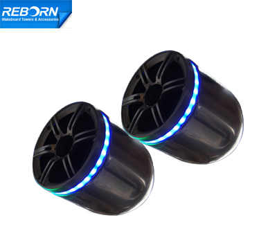 Pair of Reborn single wakeboard speaker with LED light ring