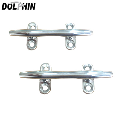 Dolphin Pair of Stainless Steel Heavy Duty Hollow Base Boat Cleat