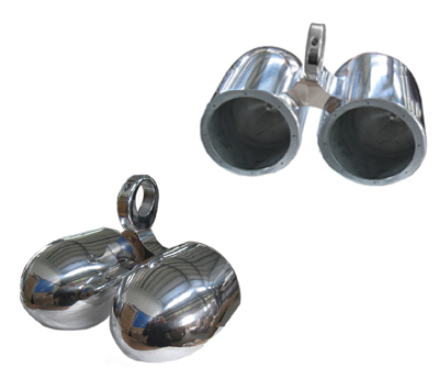 6 1/2in Twin Aluminum Bullet Speaker Polished Pods In Pair(out of stock)