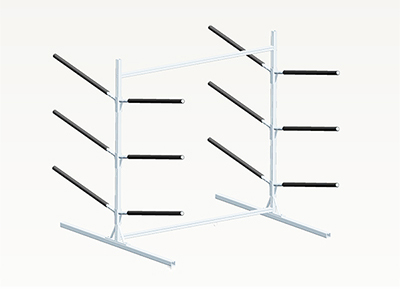 Free standard aluminum rack for 6 kayaks/canoes (Unavailable until November)